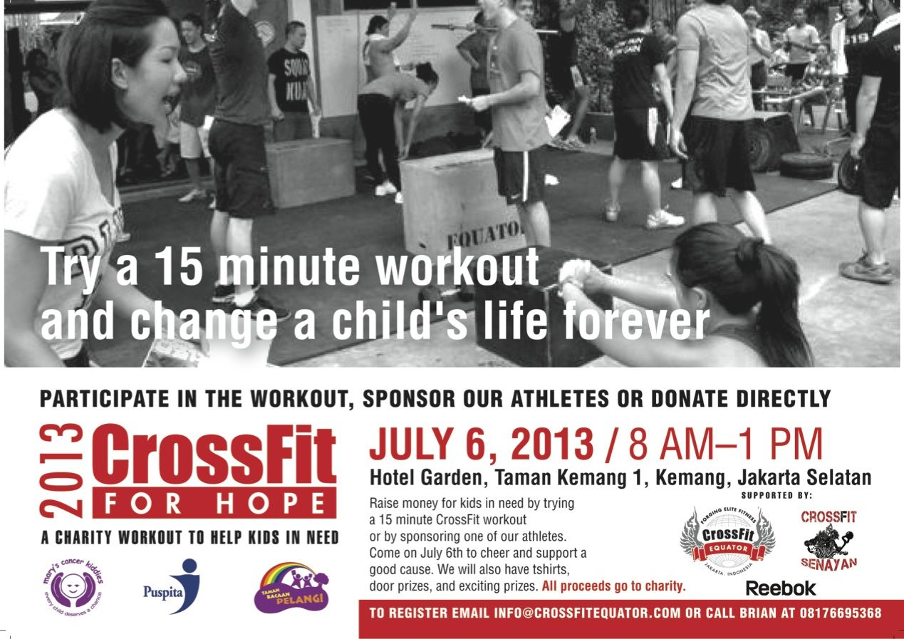 Indonesian crossfit for hope fundraising event
