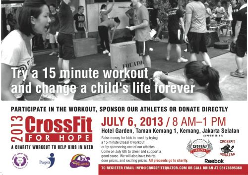 2013 CrossFit for Hope Flyer